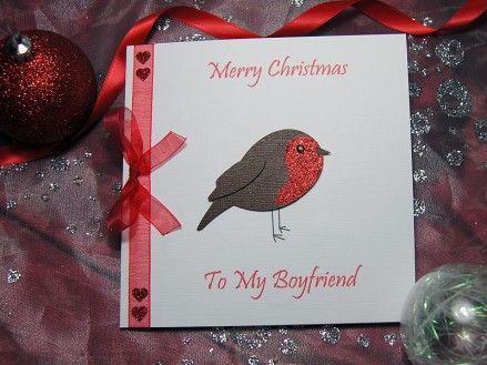 Lil Robin - Featuring a little robin with red glittery breast