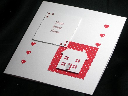 New home red - handmade card