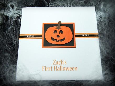 'Pumpkin' Handmade Halloween Card