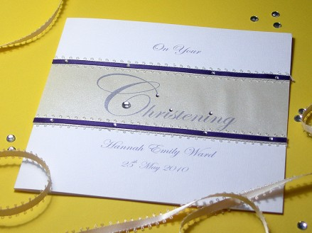 Serenity - Featuring the word Christening in elegant script as the central design feature