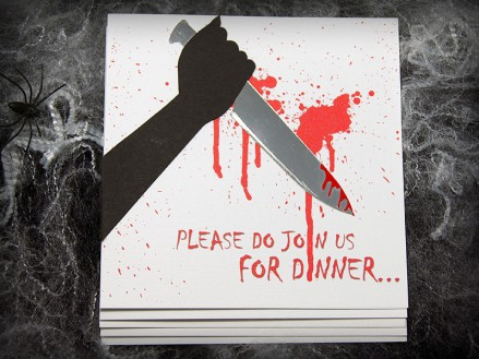 'Stab' Handmade Halloween Invitation