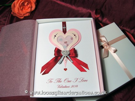 Sweet Rapture - Luxury Boxed Handmade Valentines Card