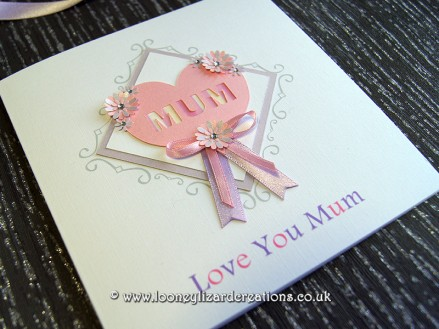 Tender: Featuring a heart with either the words, Mum, Mom or Mam - allowing you to personalise your card further