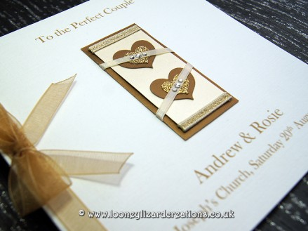 Two Hearts - Personalise with your own greeting, sentiment or message.