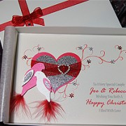 Christmas Duet - Luxury Handmade Christmas Card