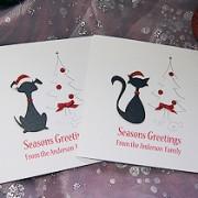 Christmas Pets - Handmade Christmas Card Pack
