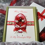 Christmas Rose - Handmade Luxury Christmas Card