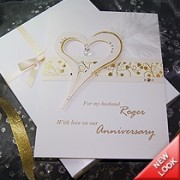 Crystal - Luxury Handmade Anniversary Card