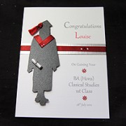 The Graduate Female - Handmade Graduation Card