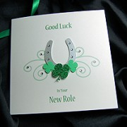 Lucky Horseshoe - Handmade Good Luck Card