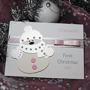 Noel Frost - Baby's Handmade 1st Christmas Card