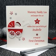 A Precious Christmas - Baby's First Christmas Card