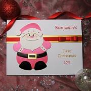 Santa - Handmade Babies 1st Christmas Card