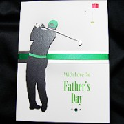 The Golfer - Handmade Fathers Day Card