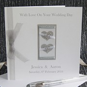 Two Hearts - Handmade Wedding Card
