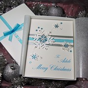 White Christmas - Handmade Luxury Christmas Card