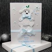 Christmas Bear - Luxury Baby's 1st Christmas Card