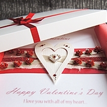 Product shot for: A Dozen Red Roses - Luxury Valentines Card