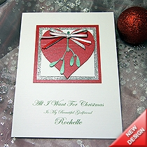 Product shot for: All I Want... - Handmade Christmas Card