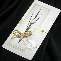 Product shot for: Calla - Handmade Sympathy Card