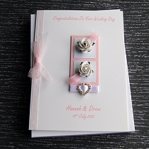 Product shot for: Chloe - Handmade Luxury Wedding Card