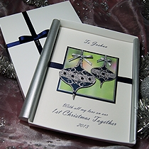 Product shot for: Christmas Baubles - Luxury Handmade Christmas Card