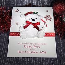 Baby's First Christmas - adorable personalised handmade character ...