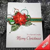 Product shot for: Christmas Corsage - Luxury Christmas Card