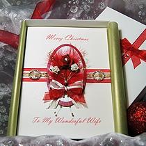Product shot for: Christmas Rose - Handmade Luxury Christmas Card