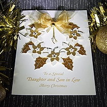 Product shot for: Christmas Wreath - Luxury Christmas Card