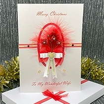 Product shot for: Christmas Rose - Luxury Christmas Card