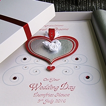 Product shot for: Cinderella - Handmade Luxury Wedding Card
