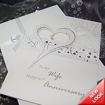 Product shot for: Crystal - Luxury Handmade Anniversary Card