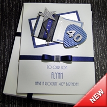 Product shot for: Denim - Luxury Birthday Card