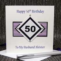 Product shot for: Diamond Geezer - Handmade Birthday Card