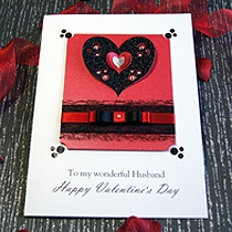 Product shot for: Dotty About You - Luxury Valentines Card