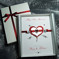 Product shot for: Everlasting - Luxury Handmade Anniversary Card