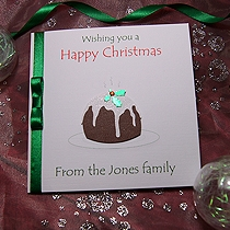 Product shot for: Christmas Pud - Handmade Christmas Card