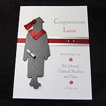 Product shot for: The Graduate Female - Handmade Graduation Card