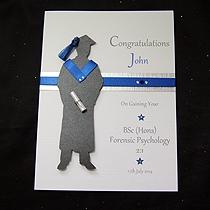 product shot for the graduate male handmade graduation card