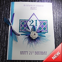 Product shot for: Harlequin - Luxury Birthday Card