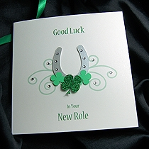 Product shot for: Lucky Horseshoe - Handmade Good Luck Card