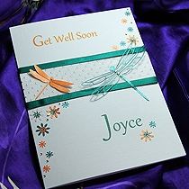 Product shot for: 'Jewel' - Handmade Get Well Soon Card