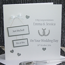 Product shot for: Hitched - Handmade Wedding Card