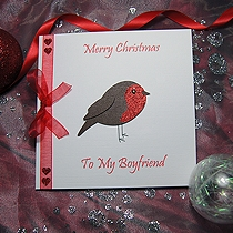 Product shot for: Lil' Robin -  Handmade Christmas Card