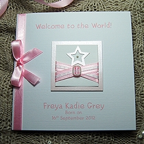 Product shot for: Little Star - Handmade New Baby Card