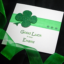 Product shot for: Lucky Clover - Good Luck Handmade Card