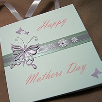 Product shot for: Madame Butterfly - Handmade Mothers Day Card