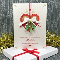 Product shot for: Mistletoe Kisses - Luxury Christmas Card
