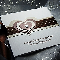 Product shot for: Mocha - Handmade Engagement Card
